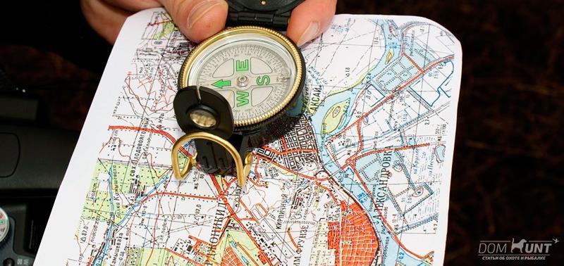 ориентирование на местности по карте
